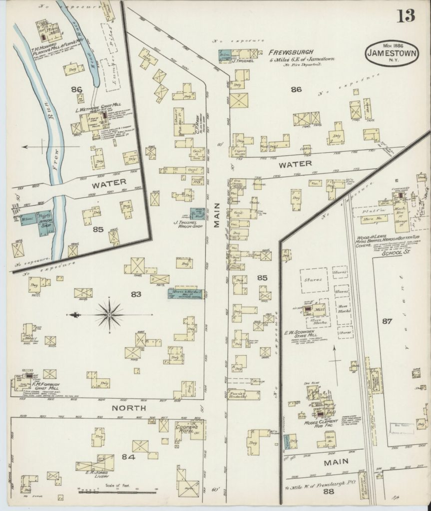 Frewsburg Map 1896