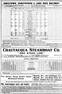 Trolley and Steamboat Schedule