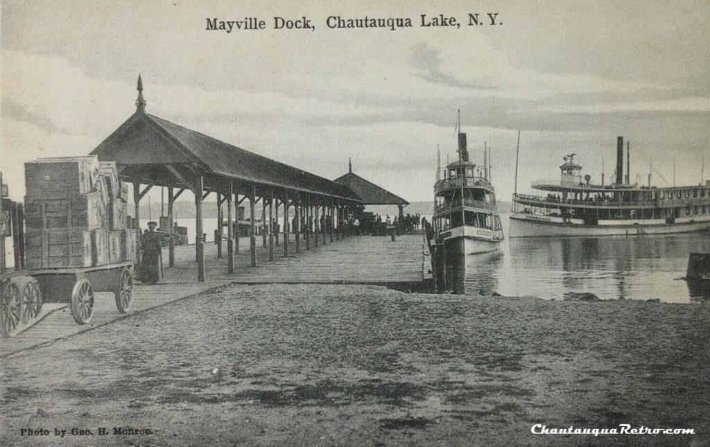 MAYVILLE DOCK, CHAUTAUQUA LAKE, N.Y. pre 1907 2