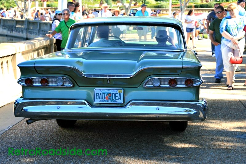 Sometimes a license plate says it all.  1959 Ford Edsel, Seen at the Lake Mirror Classic  Saturday 10-20-12  Lakeland, Florida   A Retro Roadside photo
