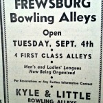 Kyle & Little Bowling Alleys Frewsburg, NY 1944