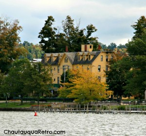 Lakeside view of historic Hotel Lenhart  20-22 Lakeside Dr. Bemus Point, New York  A Chautauqua Retro photo 2013