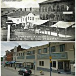 JAMESTOWN, NY - MAIN STREET IN 1861  West side of Main St from 3rd to 2nd St.   Then and Now   1861 vs 2013