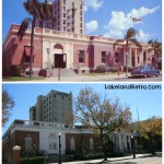 Old Post Office  Tennessee Avenue   Lakeland, FL  1950's vs February 2014