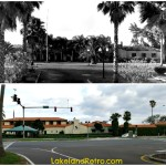 Lakeland Yacht and Country Club - Then and Now  Lakeland, Fla.   Top photo - 1937  Bottom photo - by Lakeland Retro January 2013