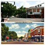 Main St. and Kentucky - Now and Then  Lakeland, Fl   A 1940's historical postcard and a 2012 photo taken by Lakeland Retro