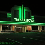 Polk County Tax Collector by Night   former Publix location  916 North Massachusetts Avenue  Lakeland, Florida   A Retro Roadside photo 2013
