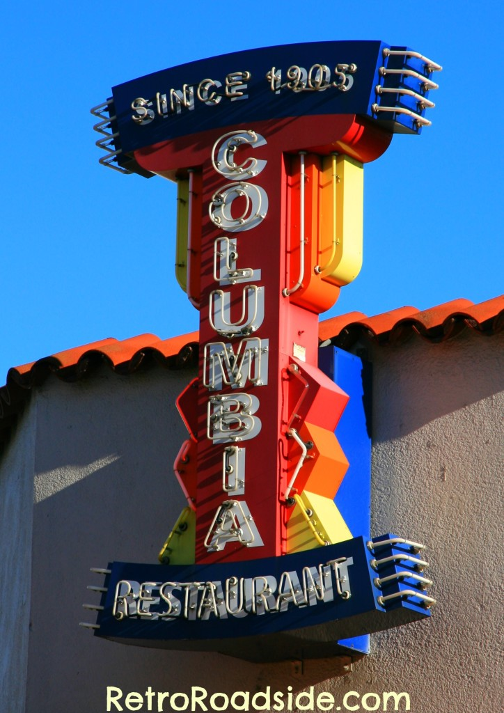 Columbia Restaurant Neon Sign  Ybor City  Tampa, FL   A Retro Roadside photo - 2014