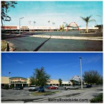 Southgate Shopping Center Then and Now  Lakeland, Florida  1950's vs 2014