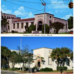Then and Now - Winter Haven, FL  98 3rd St SW  Then - US Post Office 1940's  Now - US Dept of Ag.   A Retro Roadside Photo - 2014