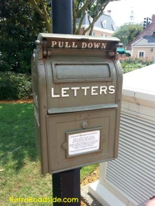 Turn of the Century US Post Office Letter Box  Spotted at EPCOT  Orlando, FL A one time common item seen across small town USA.  A Retro Roadside Photo 5/25/14