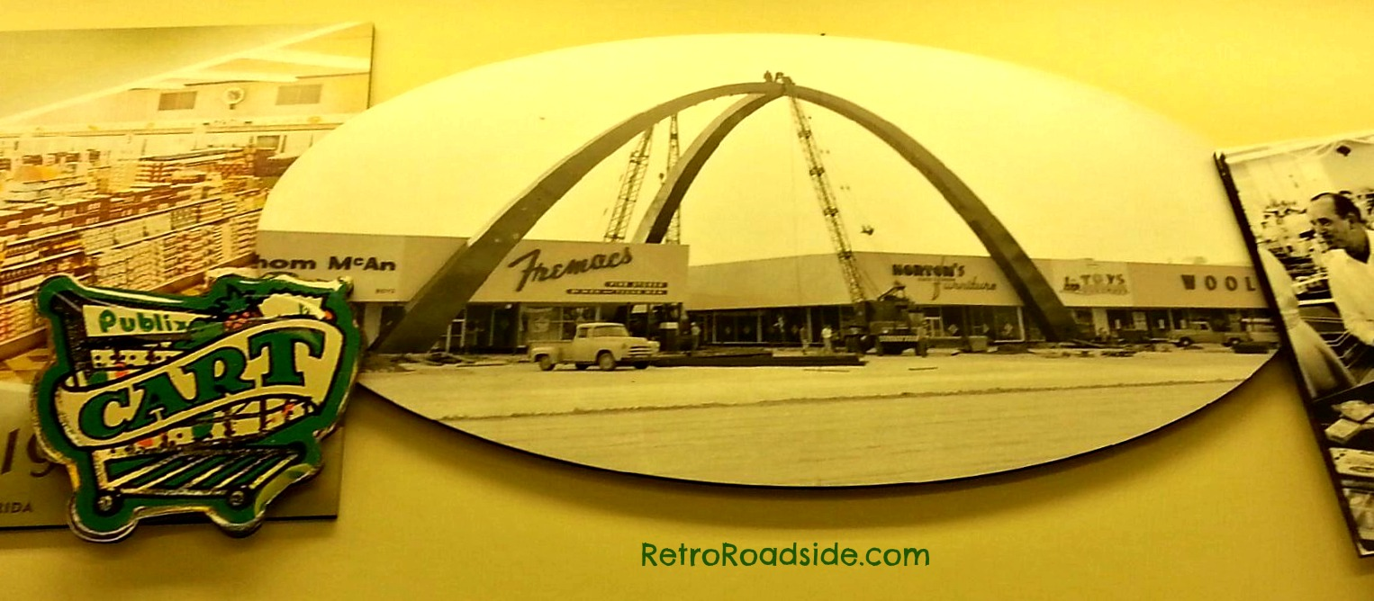Arch at Southgate shopping center installation  S. Florida Ave.  Lakeland, FL  1950's