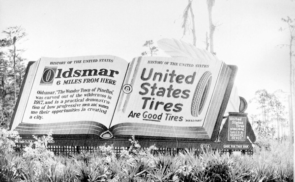 Billboard on Memorial Highway - Oldsmar, Florida 1920's