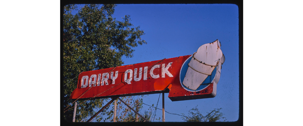 Dairy Quick ice cream sign, Nebraska Avenue, Tampa, Florida