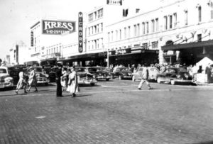 Street scene of Central Avenue - Saint Petersburg, Florida 1950's